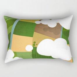 Green fields  Rectangular Pillow