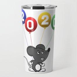 2020 The Year of Rat Travel Mug