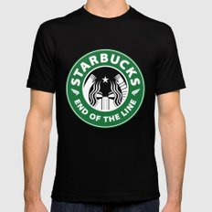 starbucky MEDIUM Black Mens Fitted Tee