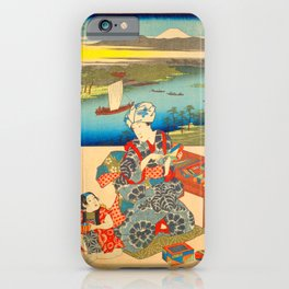 03 Kawasaki Hiroshige and Kunisada iPhone Case