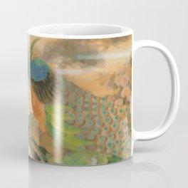 Peacocks In Paradise Vintage Oriental Art Coffee Mug