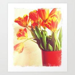 Orange Tulip Bouquet Art Print