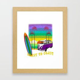 Coast to Coast Road Trip Framed Art Print