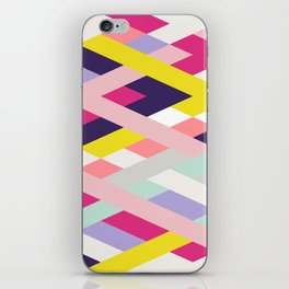 Smart Diagonals Blue iPhone Skin