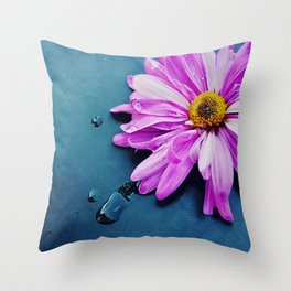 pink Flower From New York  Throw Pillow