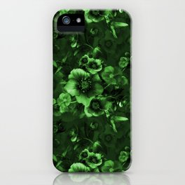 Moody Florals green iPhone Case
