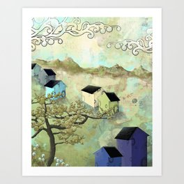 Seven Houses Art Print
