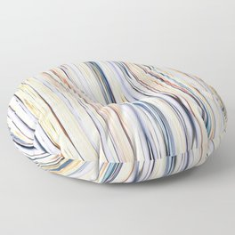 pastel abstract striped pattern Floor Pillow