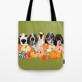 Coonhounds and Gourd Tote Bag