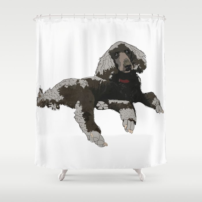 Too Cool Poodle Shower Curtain By Gangsterrapandcoffee