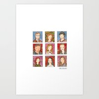 buffy Art Prints featuring Buffy by Steven Learmonth