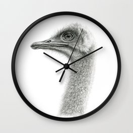 Cute Ostrich Profile SK054 Wall Clock