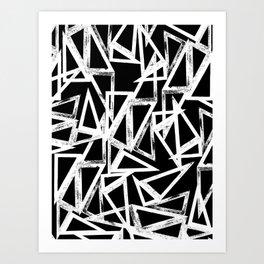 stamp triangle Art Print