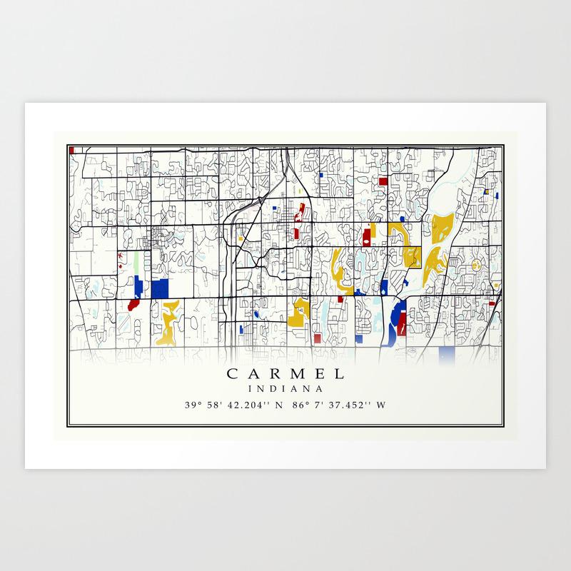 Carmel Map on