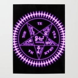 Sebastian Michaelis Sigil Light (black bg) Poster