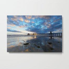 Huntington Beach Sunset 2/28/14 Metal Print