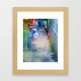 Muslim girls Framed Art Print