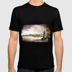 Maidens Tower Istanbul Black MEDIUM Mens Fitted Tee