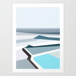Geometric Bondi beach, Sydney Art Print