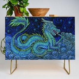Chinese Azure Dragon Credenza
