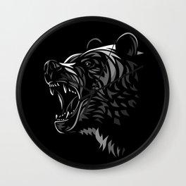 Tribal Bear Attack Wall Clock