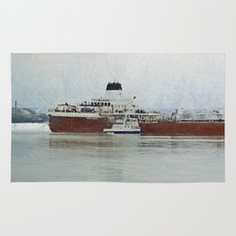 Roger Blough and Ojibway Rug