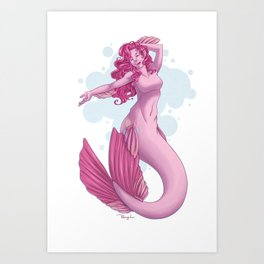 Mermare Pinkie Pie Art Print