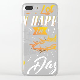 Fun A Lot Can Happen In 3 Days Christian Easter Gift design Clear iPhone Case