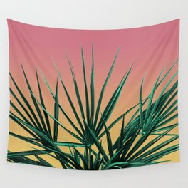 Vaporwave Palm Life - Miami Sunset Wall Tapestry