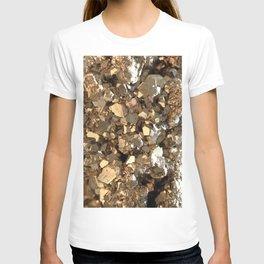 Golden Pyrite Mineral T-shirt