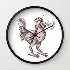 Basan Breathing Fire Tattoo Wall Clock