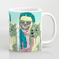 horror Mugs featuring Lsd  horror party by DIVIDUS DESIGN STUDIO