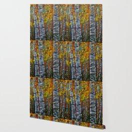Aspen Trees by OLena Art Wallpaper