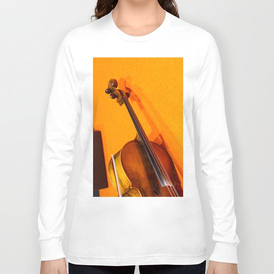 Violin on the Floor Long Sleeve T-shirt