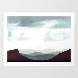 Mountains Storm Art Print