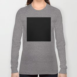 #000000 PURE BLACK Long Sleeve T-shirt