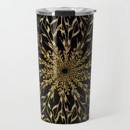 Black Gold Glam Nature Travel Mug