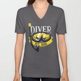 Diver Life Scuba Diving Unisex V-Neck
