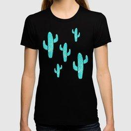 Linocut Cacti Desert T-shirt