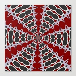 Red Black White Pattern Canvas Print