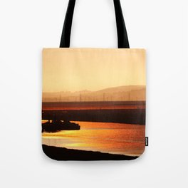River on Fire Tote Bag