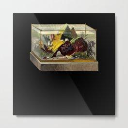 Fish Tank Illustration Metal Print