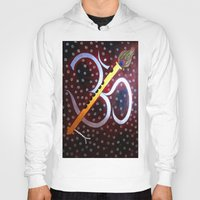 om Hoodies featuring Om by Priyanka Rastogi
