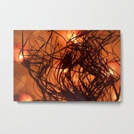 Fire effect. Metal Print