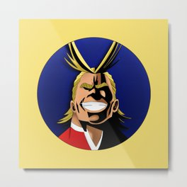 ALL MIGHT Metal Print