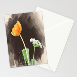 orange and white Stationery Cards