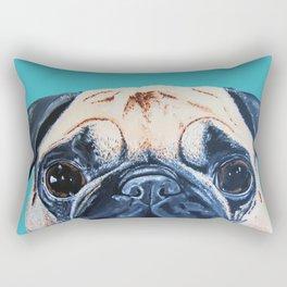 Wide Eyed Pug Rectangular Pillow