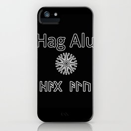 Helm of Awe protective spell iPhone Case