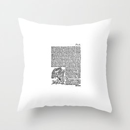 incognita servo Throw Pillow