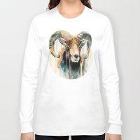 ram Long Sleeve T-shirts featuring Ram by Slaveika Aladjova